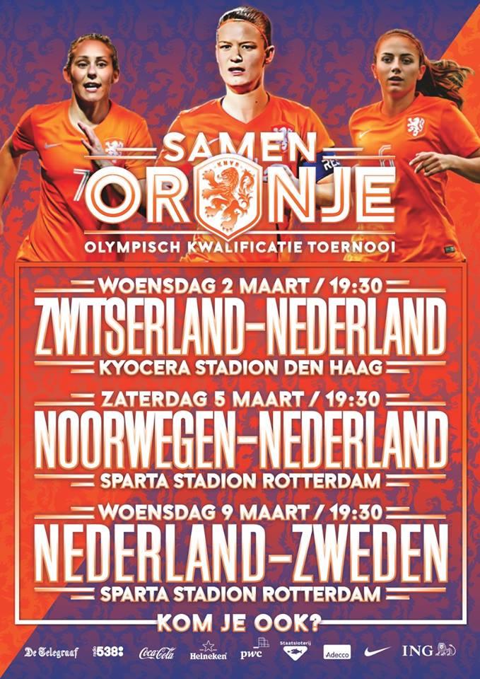 Support de Oranjevrouwen tijdens het OKT!
