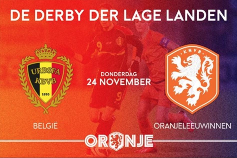 Nederlands vrouwenelftal oefent in Leuven tegen België
