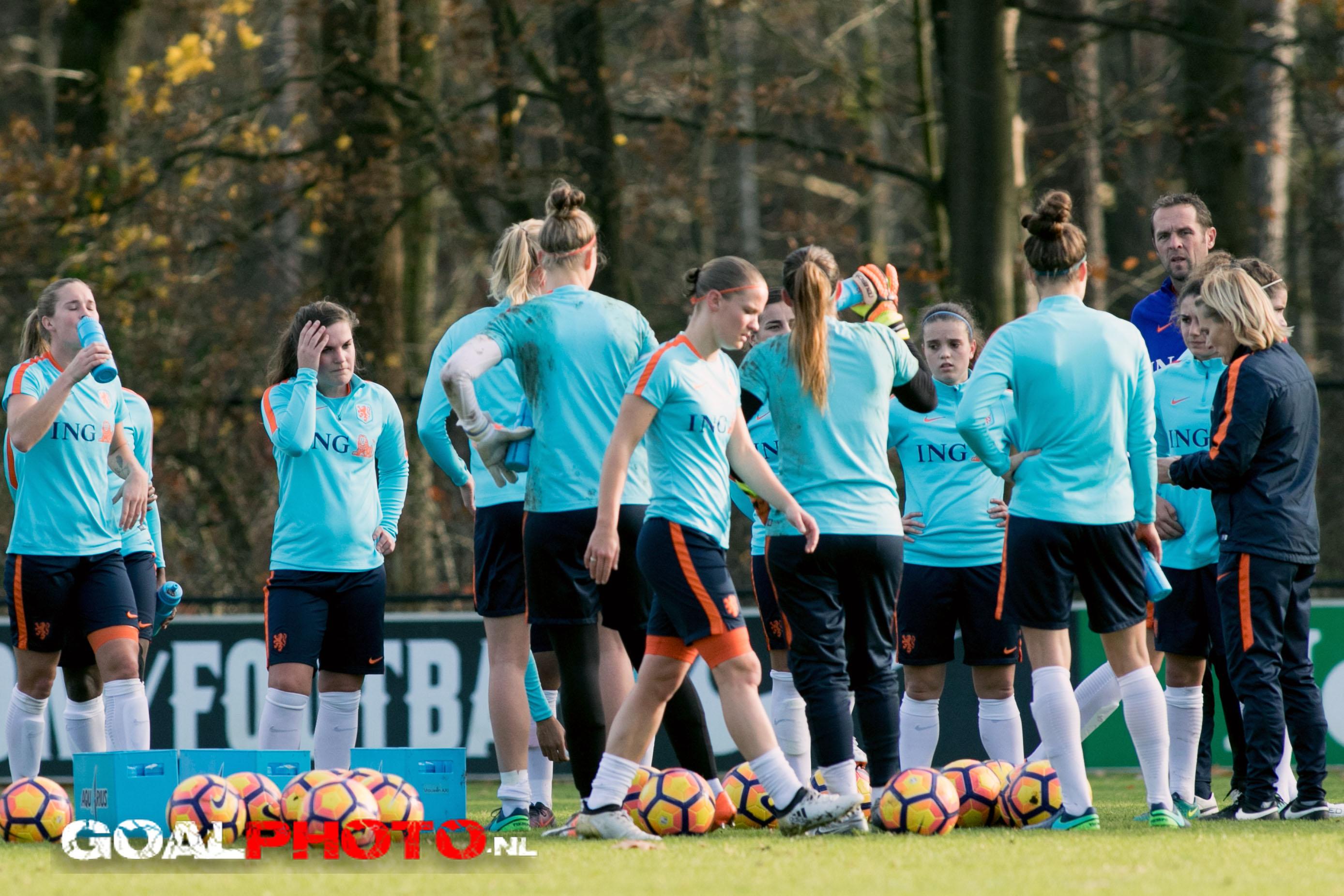 KNVB Campus in Zeist decor voor tweedaags trainingskamp Oranjevrouwen