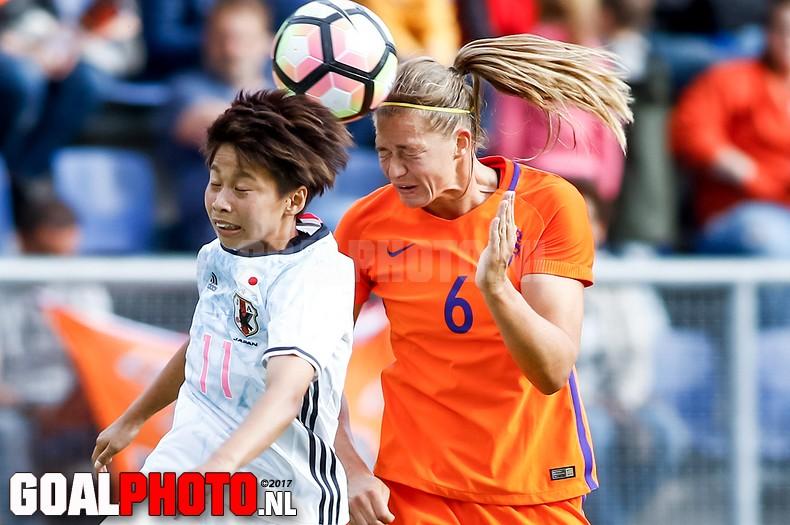Oranjevrouwen nipt onderuit in oefeninterland tegen Japan