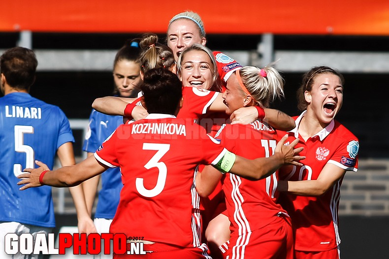 Russische voetbalsters op EK te sterk voor Italië