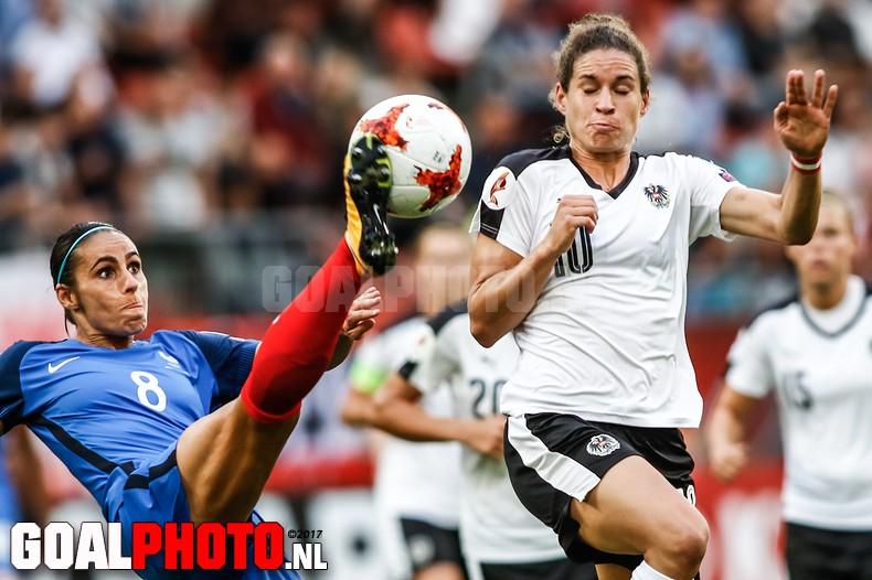 Frankrijk en Oostenrijk in evenwicht op EK vrouwen