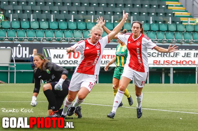 Ajax-vrouwen spelen met moeite gelijk tegen ADO