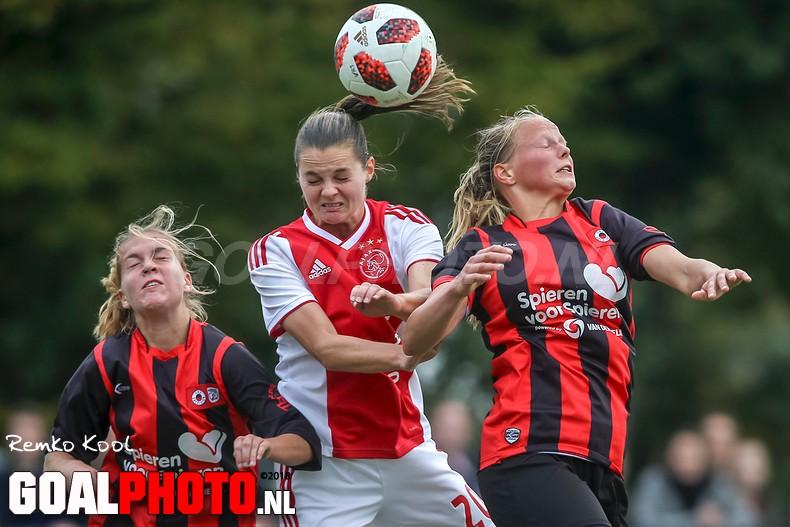 Ajax-vrouwen spelen kater van CL weg tegen Excelsio