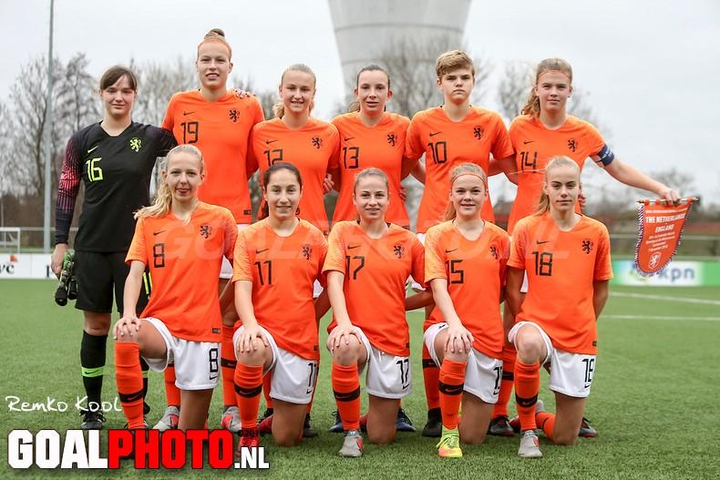 Nederland – Engeland onder 16 (4-2)