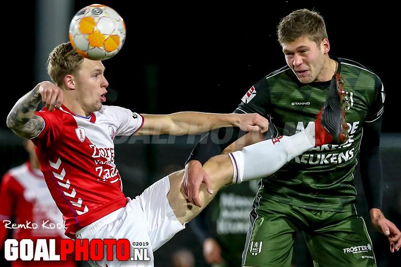 Jong FC Utrecht komt net tekort tegen RKC