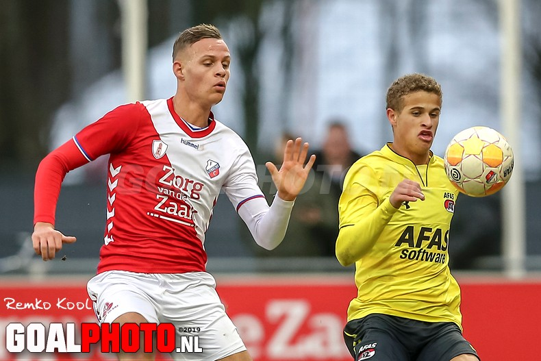 Jong FC Utrecht geeft zege in tweede helft uit handen