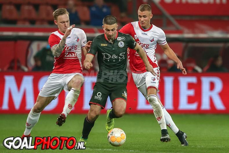 Jong FC Utrecht legt het af tegen Sparta