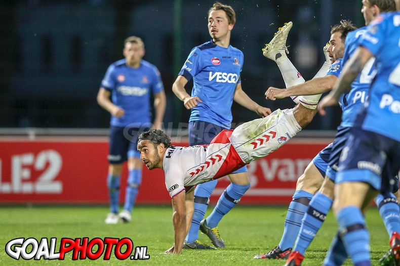 Jong Utrecht blijft laatste na 1-1 tegen concurrent Helmond Sport